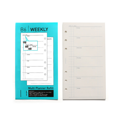 600 B6 MULTI PLANNER REFILL SHEETS (WEEKLY)