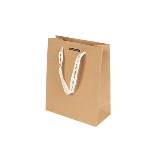 2500 Ribbon Kraft Shopping Bag210x100x260mm