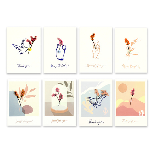 1500 SIMPLE DRAWING FLOWER GREETING CARD